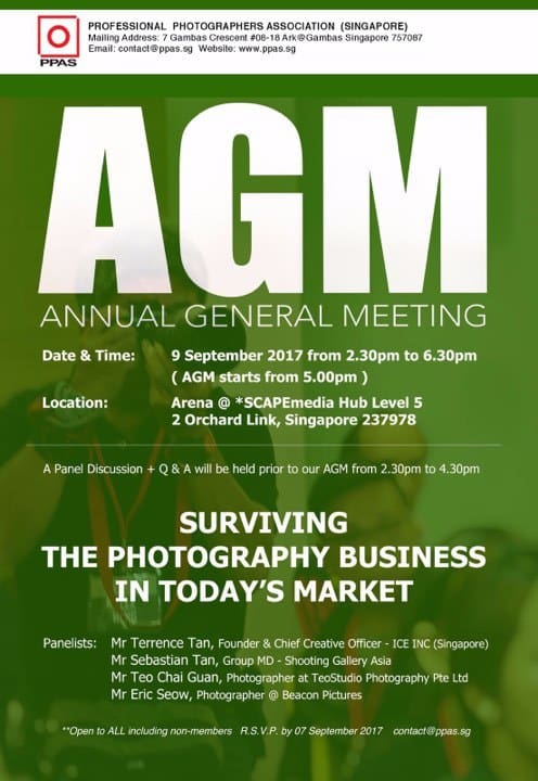 RSVP for the PPAS 2017 Annual General Meeting | Professional