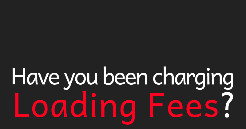 Loading Fees for Photographers