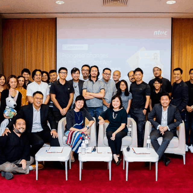 Discussion about the proposed changes to the Copyright Law at NTUC, June 2019